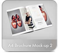 Horizontal A4 Brochure Mock-up - 17